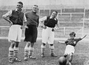 fathers day/young tony hapgood shows skills highbury london